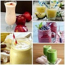 Zobacz zdjęcie 5 propozycji smoothies. 1. Smoothie na śniadanie:  Składniki: 5 truskawek 1/2...
