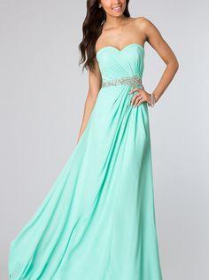 A-line Blue Chiffon Long Formal Dress/ Prom Dress Evening Dress Jasz 1130