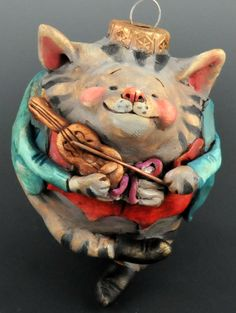 Vintage Style Collectible Cat and the Fiddle by uncommoncreatures, $46.00