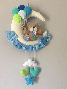 Felt Animal Patterns, Stuffed Animal Patterns, Felt Crafts, Diy And Crafts, Mobiles, Quiet Book Templates, Baby Deco, Fabric Hearts, Felt Toys