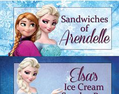 Frozen Birthday Party Food Tags