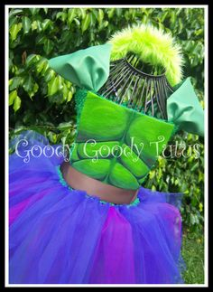 WHEN SHE'S ANGRY Incredible Hulk Inspired Tutu Dress with Headpiece - Large 4- 6T