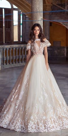 Lorenzo Rossi Wedding Dresses 2018 To Look A Diva ❤️ lorenzo rossi weddding dresses 2018 ball gown with cap sleeves floral aplliques tulle skirt blush ❤️ Full gallery: https://weddingdressesguide.com/lorenzo-rossi-wedding-dresses-2018/ #bridalgown #weddingdresses2018 #wedding #bride #weddinggowns