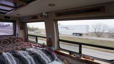 Campervan interior while driving - Exploring Alternatives Campervan Interior, Gypsy Wagon, Gypsy Life, Lessons Learned, Camper Van, Ottawa, Iowa, Exploring, Road Trip
