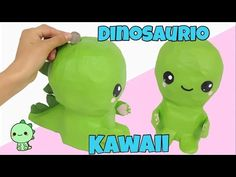 MANUALIDADES KAWAII\como hacer una alcancía DINOSAURIO KAWAII - YouTube