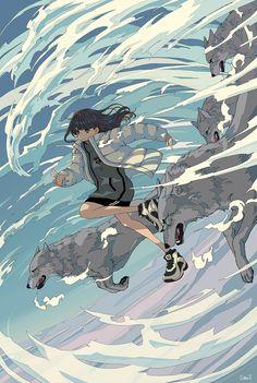 painting and drawing Kunst Inspo, Art Inspo, Art And Illustration, Aesthetic Art, Aesthetic Anime, Anime Art Girl, Manga Art, Fantasy Kunst, Fantasy Art