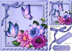 Lovely Deep lilac Dahlia on a Scallopes frame  on Craftsuprint - Add To Basket!