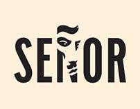 Señor - Brand Identity by Vedran Klemens, via Behance Branding Agency, Logo Branding, Branding Design, Branding Ideas, Logo Design Examples, Graphic Design, Design Ideas, Logo Face, Logo Sign