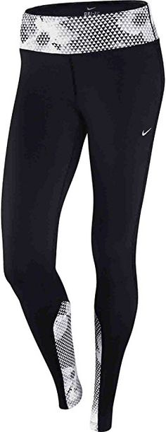 8b45a25f NIKE Epic Run Printed Tight - Black/White/Matte Silver, XLarge: Amazon.co.uk:  Sports & Outdoors