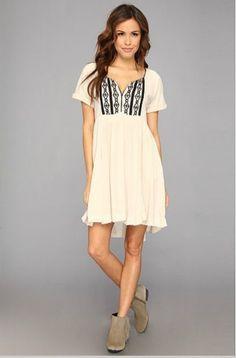 NEW Free People Ivory Sand Embroidered La Mamounia Dress XS perfume sample #FreePeople #AsymmetricalHem