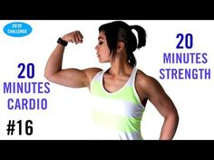 50 Minute HIIT! Tabata Cardio + Full Body Strength 20/20 Challenge | Day 16 - YouTube