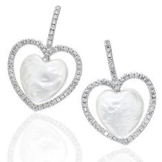 What does #love means to you? #diamonds#pearl#heart#valentinesday#gift#giftforher#musthave#earrings#jewelry#yvel#bride#engagementgift#wedding