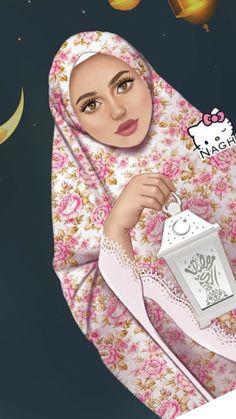 Hijab Drawing, Pop Art Drawing, Cute Girl Drawing, Girl Artist, Art Girl, Crown Illustration, Eid Mubarak Images, Wallpaper Wa, Dps For Girls