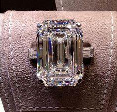 33 carat flawless Graff diamond ring ~ Instagram. In love. Amazing.