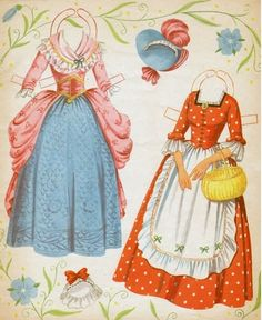 In Old New York - Colonial Paper Dolls