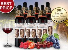 """Ebrosia: Parker-Weinpaket mit 90 Punkten für 39,99 Euro frei Haus https://www.discountfan.de/artikel/essen_und_trinken/ebrosia-parker-weinpaket-mit-90-punkten-fuer-40-euro-frei-haus.php Für kurze Zeit ist bei Ebrosia ein mehrfach prämiertes Weinpaket (darunter auch 90 Parker-Punkte) mit sechs Flaschen des """"El Miracle by Mariscal Valencia"""" für 39,99 Euro frei Haus zu haben. In anderen Shops kostet die einzelne Flasche schon zwölf Euro plus Versand. Ebrosia:"""