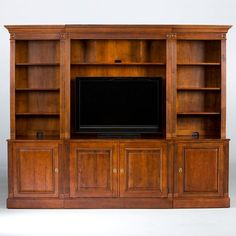Bon Ethan Allen  British Classics Robinson Media Center: Shelves Instead Of  Space For TV
