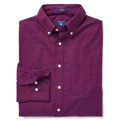 GANT Men's Weekend Twill Shirt Amethyst   Official Site