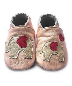 Pink Elephant Leather Booties - Kids #zulily #zulilyfinds