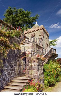 Torosay Castle and Gardens on the Isle of Mull near Craignure Inner Hebrides Scotland Editorial use only - Stock Image