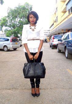 Fashion Notebook - http://nanciemwai.com/2012/12/what-i-wore-faux-leather-pants/