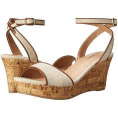 Call it SPRING Nissana Women's Wedge Shoes, Beige ($30) ❤ liked on Polyvore featuring shoes, sandals, beige, platform sandals, famous footwear, women shoes, high heel sandals and ankle tie sandals