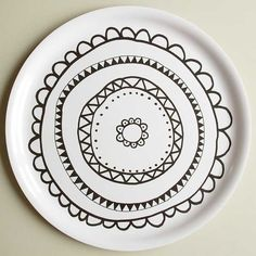 Aura-tarjotin, mustavalkoinen | Aura tray, black and white | www.käpynen.fi