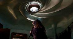Ceiling light in Casper's room.