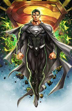 Justice League Marvel, Marvel E Dc, Marvel Comics, Superman Artwork, Superman Wallpaper, Superman Black Suit, Batman And Superman, Superman Family, Dc Comics Characters