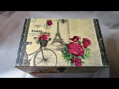 YouTube Album Vintage, Decoupage Tutorial, Diva Nails, Shabby, One Stroke Painting, Old Signs, Diy Recycle, Chalk Paint, Sewing Crafts