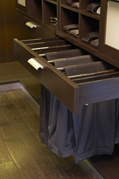 """love this whole closet, but the """"drawer"""" pant hanger is FANTASTIC!"""