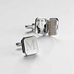 Monogrammable Locket Cuff Links