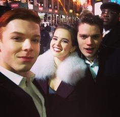 Cameron Monaghan, Zoey Deutch and Dominic Sherwood New Years Eve with MTV in Times Square