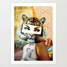 what's new pussy cat Art Print by Shane Thompson - $22.88