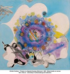 Christo Coetzee - Flower on a Spanish Sunday Afternoon Johannesburg Art Gallery, Abstract Pattern, Masters, Flora, Spanish, Sunday, Collage, Artwork, Artist