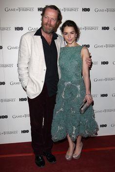 Iain Glen and Emilia Clarke (Jorah Mormont and Daenerys Targaryen)