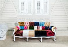 Lamartine Romantic Patchwork Furniture by Paonwork on Etsy, $4350.00