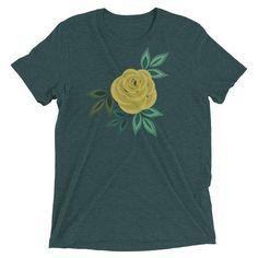 872b69ca4 Yellow Rose Triblend Short sleeve t-shirt • County Road Nine  #yellowroseoftexas #graphictee