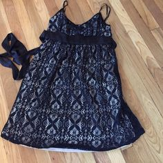 Black & Nude dress Lace detail dress. Worn once to a party Delias Dresses
