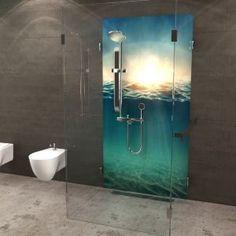 aus seiner dusche ein designerst ck machen mit bedruckten r ckw nden aus alu verbund acryl. Black Bedroom Furniture Sets. Home Design Ideas