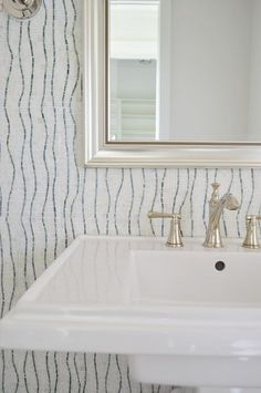 Showhouse powder room detail (love that tile so much)