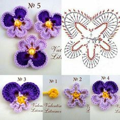 Crochet pansy by Auntie Cosmos Best 12 Lovely crocheted flower on a Japanese site – SkillOfKing. 15 diy crochet flower patterns 1001 crochet by – Artofit This Pin was discovered by Irm Heklanje plus – Artofit Crochet Flower Tutorial, Crochet Diy, Crochet Flower Patterns, Flower Applique, Irish Crochet, Crochet Flowers, Crochet Ideas, Crochet Diagram, Crochet Chart