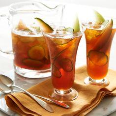 Honey Melon Cucumber Iced Tea #recipe #icedtea #icetea #lipton