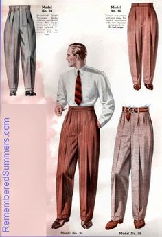 "Elegant and proper fitting drape (with correct cuffed hems). This looked splendid on all shapes. This look is so much better than today's ill-fitting, too short, too tight and awkward men's pants being pushed as ""fashion"" nightmares. 1950s Fashion Menswear, 1940s Fashion, Look Fashion, Man Fashion, Retro Vintage Fashion, Mens Fashion Wear, Fashion Outfits, Fashion Clothes, Vintage Clothing"