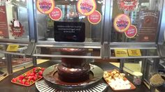 Chocolate Fondue Fountain at Golden Corral - YouTube