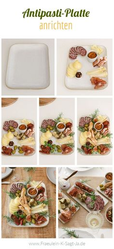 Antipasti Platte anrichten - Italienisch mediterran feiern und speißen Chutney, Bruschetta, Pasta Salad, Brunch, Yummy Food, Ethnic Recipes, Foodblogger, Table Settings, Artichokes