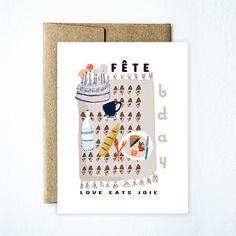 Blanket birthday card - Ferme à Papier