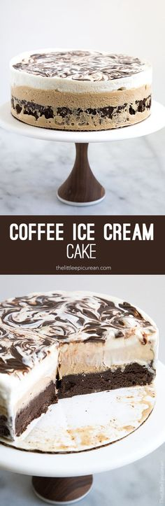 Coffee Ice Cream Cake: