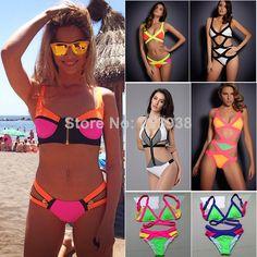 Selection of neon bikinis