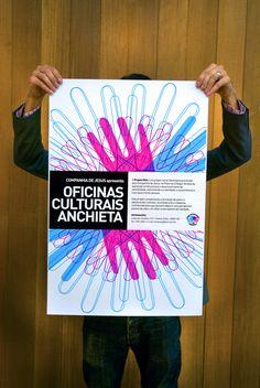 oficinas culturais anchieta by Renato Castilho, via Behance